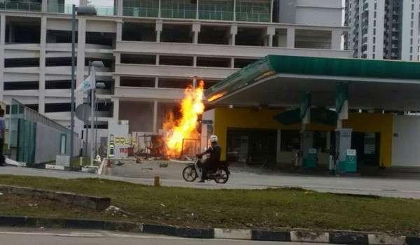Letupan NGV Stesen Petronas Austin Perdana, Johor Bahru
