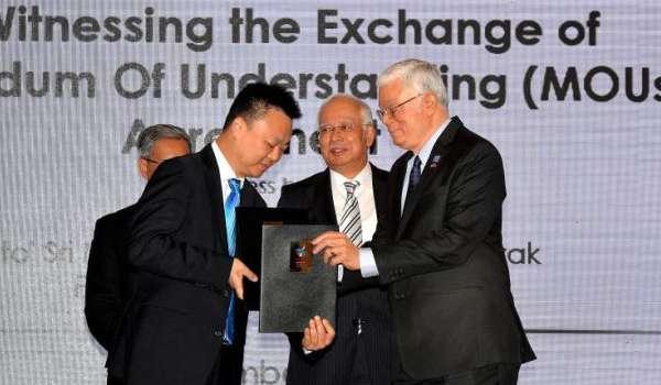 SYARIKAT MALAYSIA - CHINA METERAI 14 PERJANJIAN BERNILAI RM114 BILION