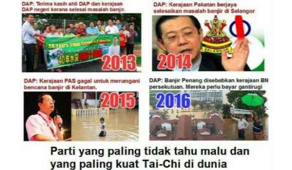 DAP tak boleh selesai masalah banjir di Pulau Pinang, salahkan kerajaan persekutuan