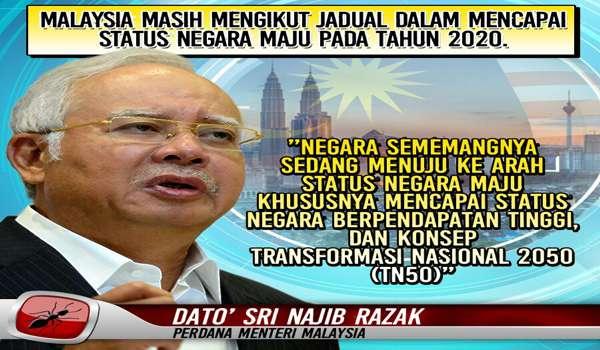 [AUDIO] TN50: MALAYSIA MASIH MENGIKUT JADUAL DALAM MENCAPAI STATUS NEGARA MAJU PADA TAHUN 2020 - @NajibRazak