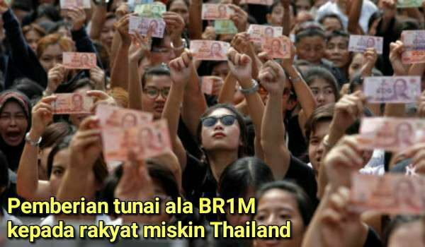 RAKYAT MISKIN THAILAND TERIMA BANTUAN ALA BR1M