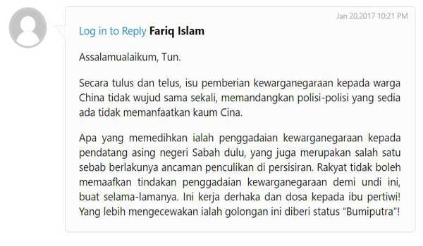 Komen dari post Chedet sendiri. Menunjukkan ramai orang tidak bersetuju dengan Mahathir pada blog beliau sekarang ini.