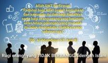 Rugi orang² yang TIDAK BERBANGGA dengan Islam