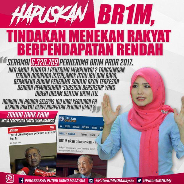 Hapus BR1M kerana dendam kesumat Pakatan Harapan - Rakyat jadi mangsa
